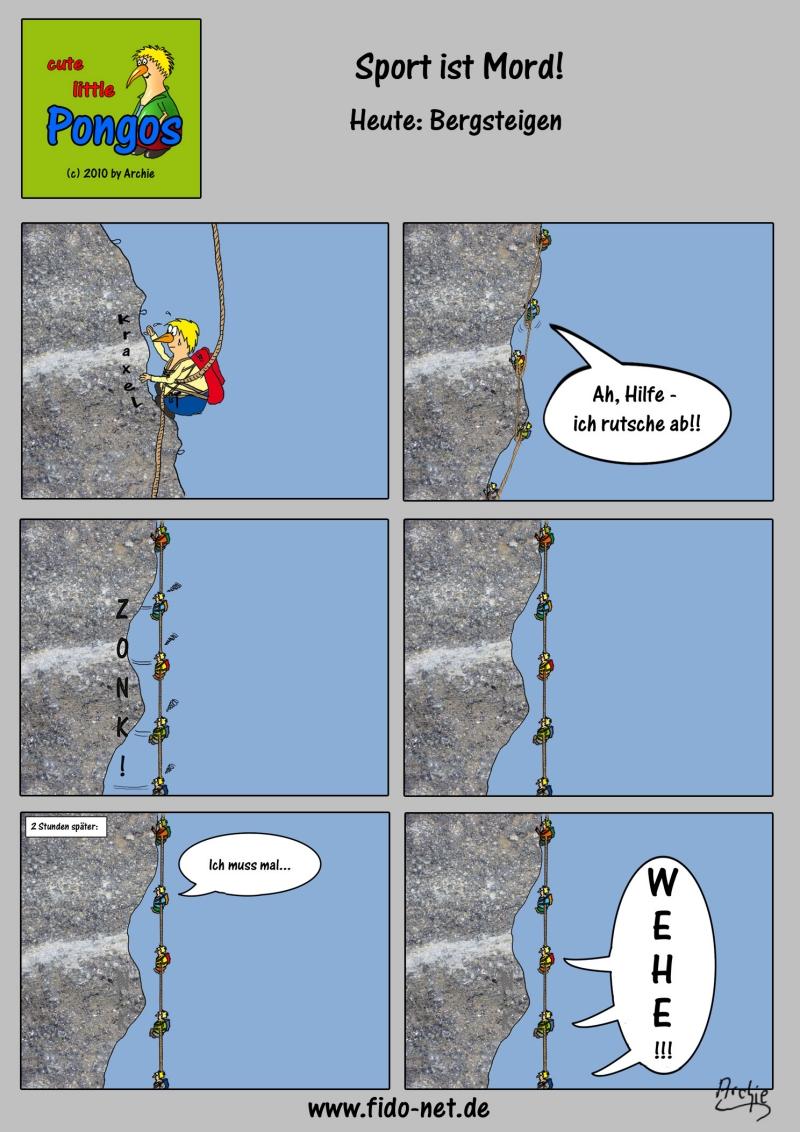 Sport ist Mord: Bergsteigen Grafik #4 von 6 [Zurück zu fido-net.de]: www.fido-net.de/pongos/comics/sport/images/bergsteigen.html